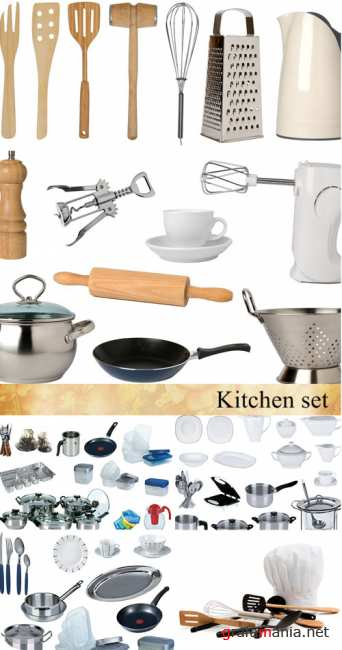 Stock Photo: New kitchen set