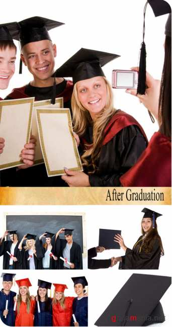Stock Photo: After Graduation