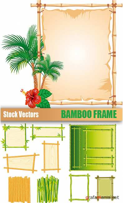 Stock Vectors - Bamboo Frame