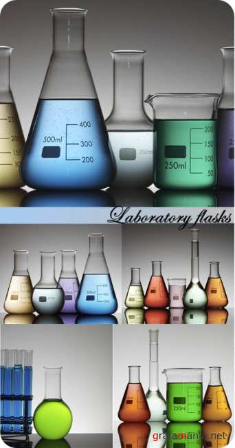 Stock Photo: Laboratory flasks