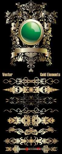 Gold Vector Elements 5
