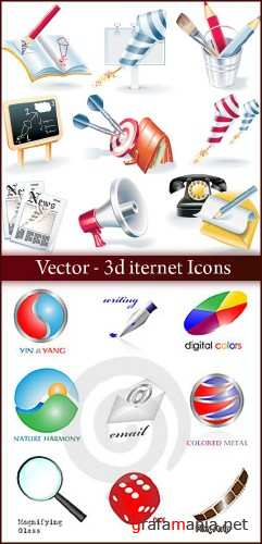 Vector 3d iternet Icons