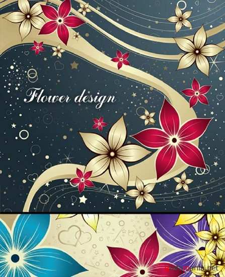 Floral Vector Beautiful Backgrounds