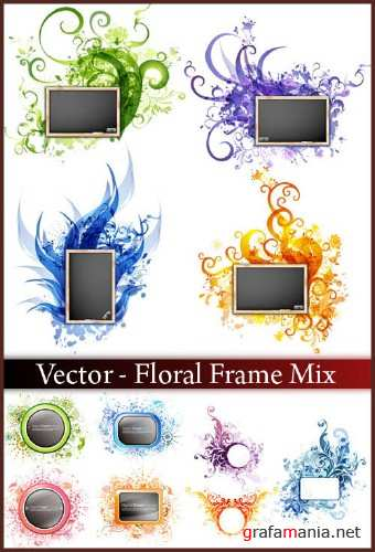 Vector - Floral Frame Mix