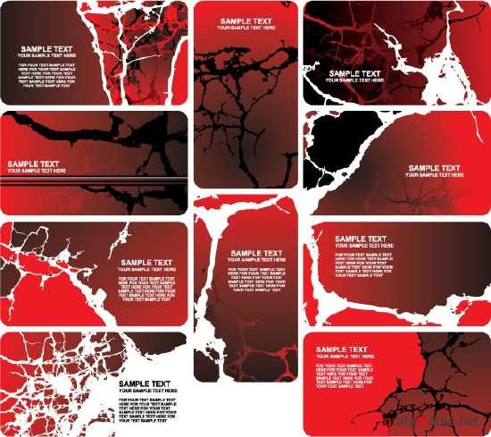 Red Business Cracks Cards