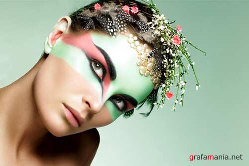 Creative photos - girl in the paint