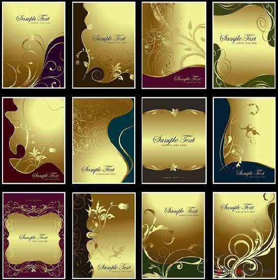 Gold card backgrounds