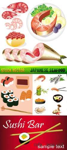Stock Vector - Japanese Seafood