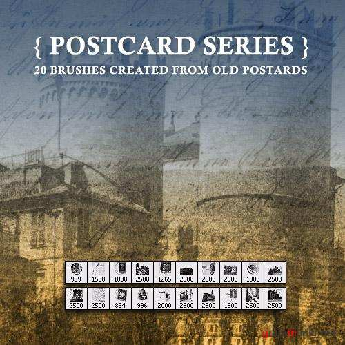 Postcard Set Brushes vol.2