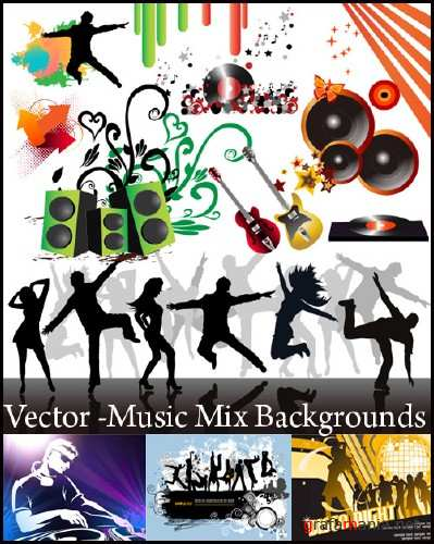 Vector - Music Mix Backgrounds Collection
