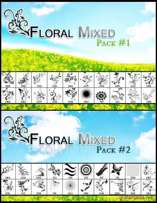 Floral Mix Brushes