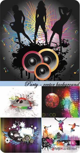 Stock Photo: Party - vector background