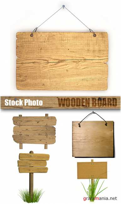 Stock Photo - Wooden Board