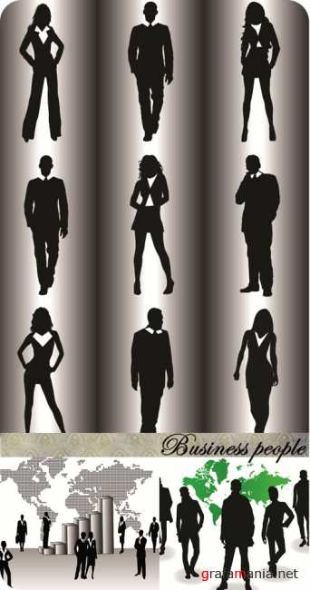 Stock vector: Business people