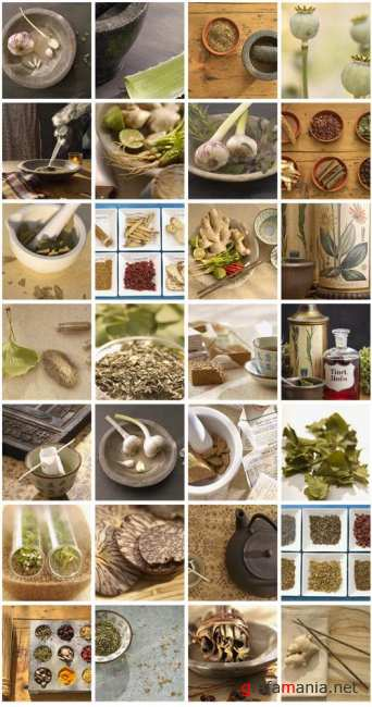 Stock Photo: Spices and kitchen