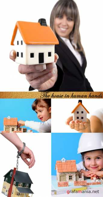 Stock Photo: The house in human hands