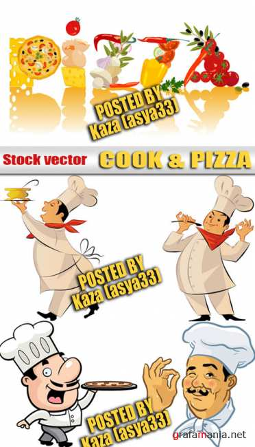 Cook & pizza