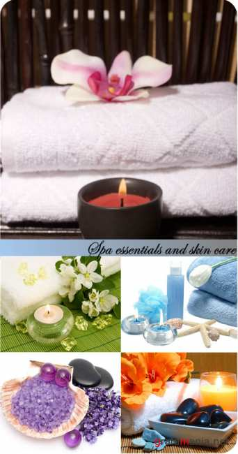 Stock Photo: Spa essentials and skin care