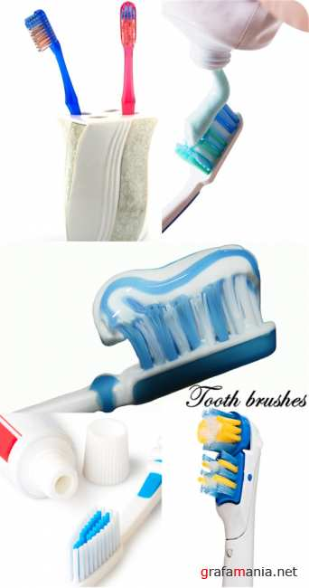Stock Photo: Tooth brushes