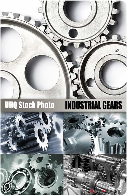 UHQ Stock Photo - Industrial Gears