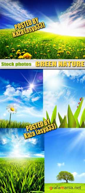 Green nature & blue sky