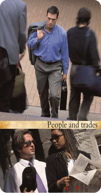 Stock Photo:  People and trades
