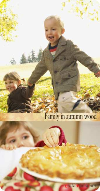 Stock Photo: Family in autumn wood