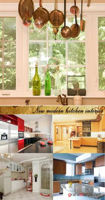 Stock Photo: New modern kitchen interior