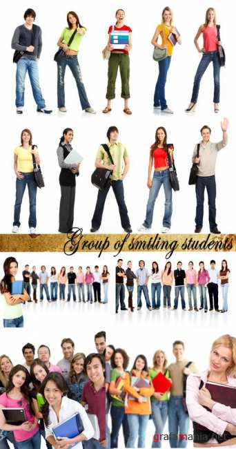 Stock Photo:Group of smiling students