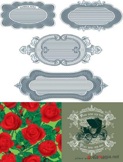 Frames and Roses Vectors