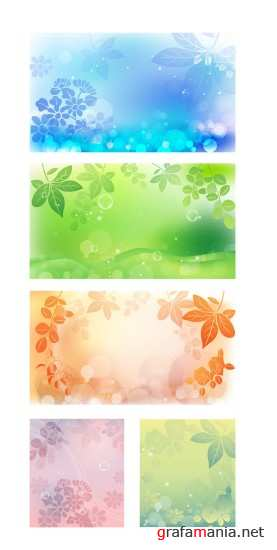 Leaves Vector Backgrounds