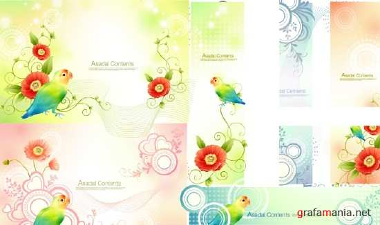 Parrot Vector Backgrounds
