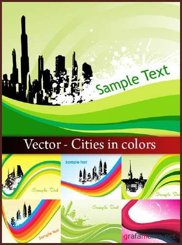 Vector - Cities in colors