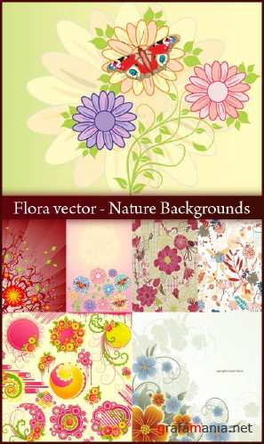Flora vector - Nature Backgrounds