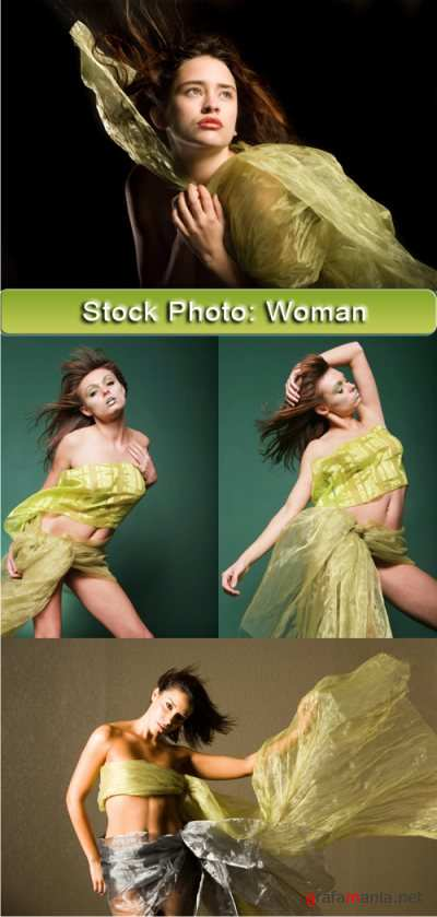 Stock foto - Green woman II