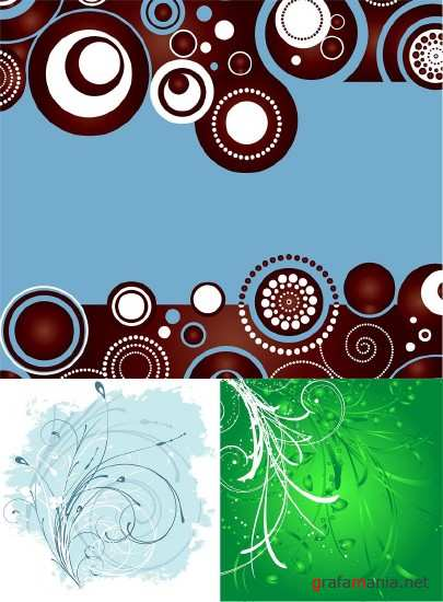 Three vector background