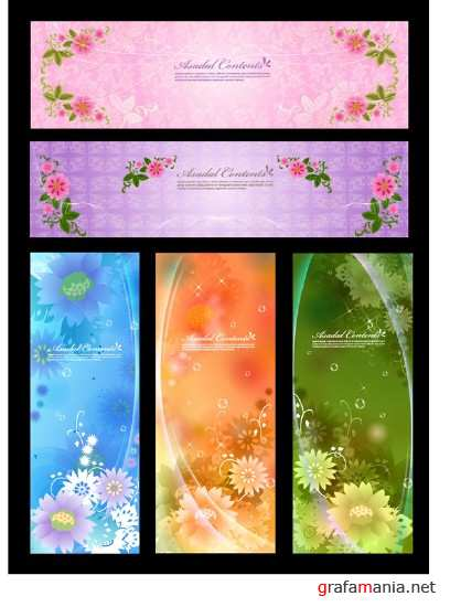 Five Beautiful Vector Banners