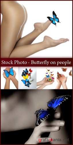 Stock Photo - Butterfly on people