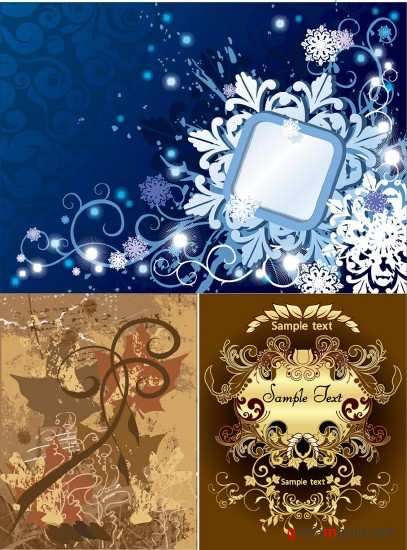 Set Beautiful Vector Backgrounds