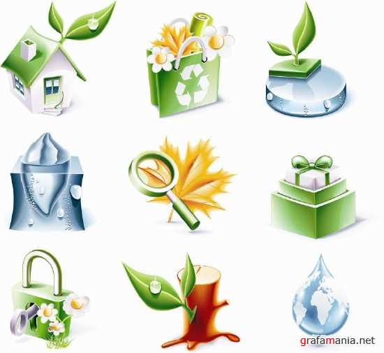 Green World Vector Icons