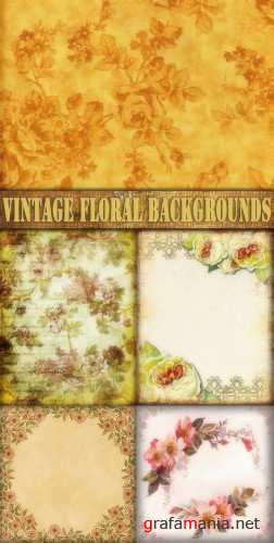 Цветочные фоны для Adobe Photoshop / Vintage Floral backgrounds for Adobe Photoshop