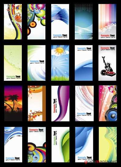 Vector Mix Beautiful Cards
