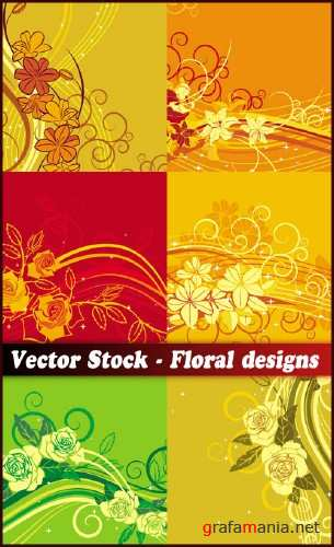 Vector Stock - Floral designs
