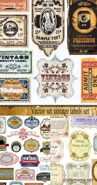 Vector set vintage labels set