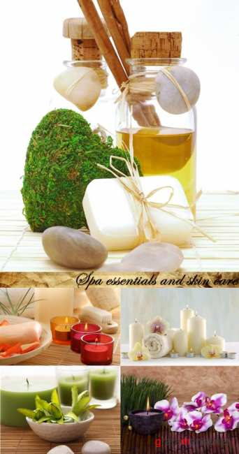 Stock Photo:Spa essentials and skin care