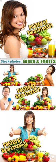 Girls and fruits