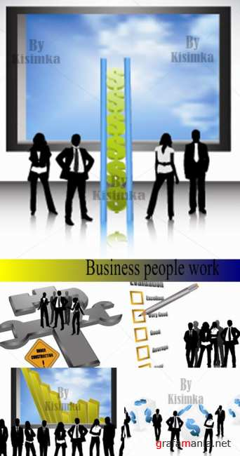 Business people work