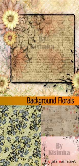 Stock Photo: Background Florals