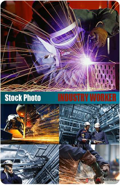 UHQ Stock Photo - Industry workers