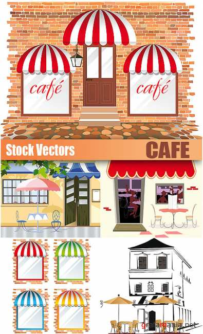 Stock Vectors - Cafe